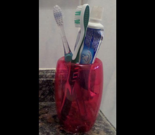 porta escova de dente vinho