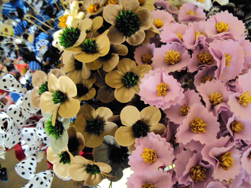flor com tecido facil