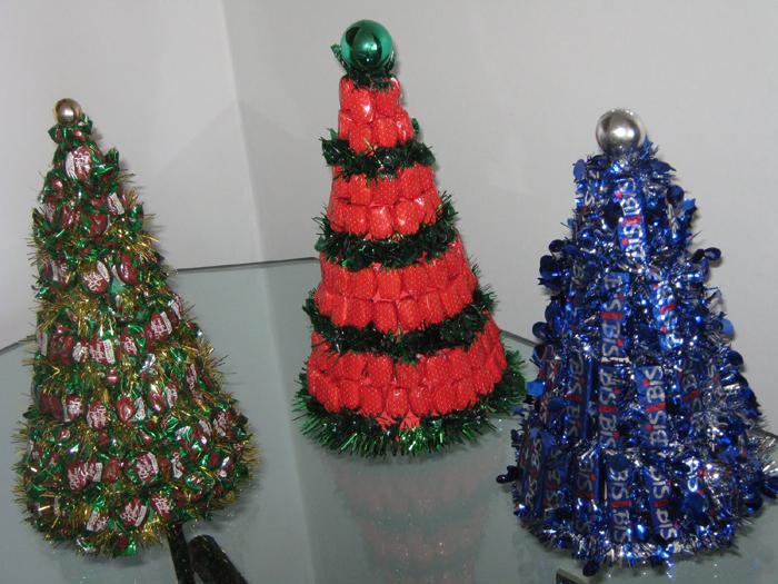árvore natalina de bala