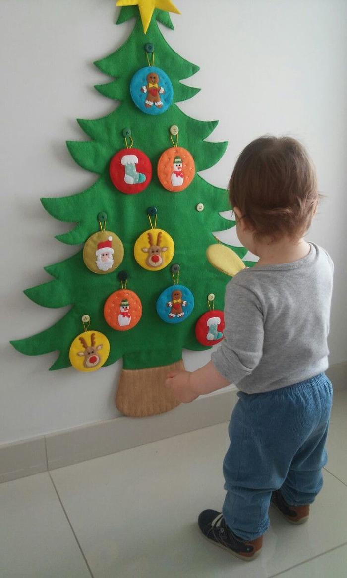árvore natalina infantil