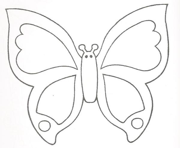 borboleta de papel com recortes