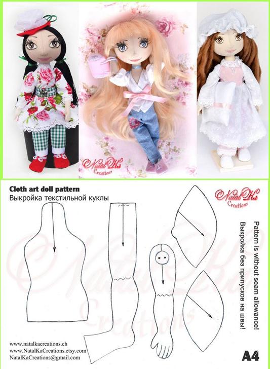 varias boneca de tecido