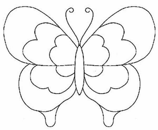 borboleta de papel com camadas