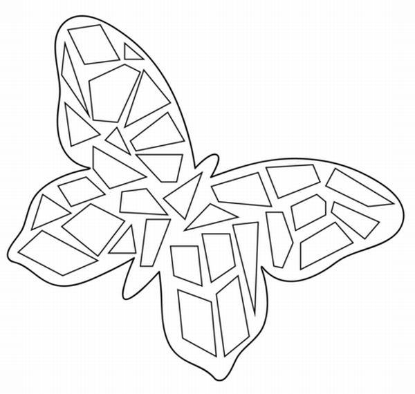 borboleta de papel mosaico