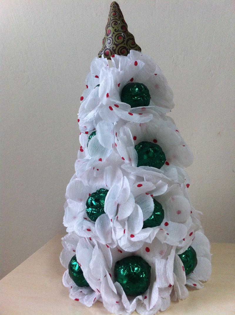 arvore natalina de bombom verde