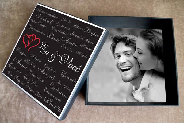 caixa  decorada com fotos paixao