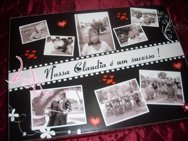 caixa  decorada com fotos sucesso
