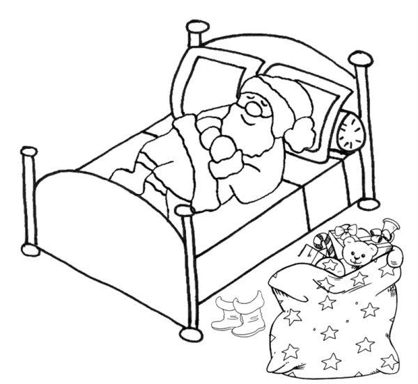 simbolos de natal papai noel cama
