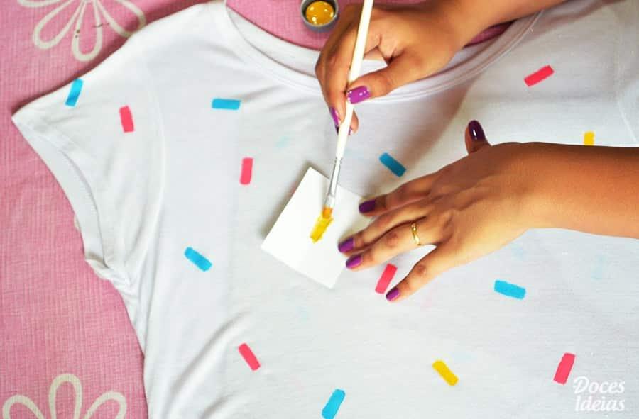 como pintar camisetas