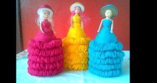 Boneca de Lã com Garrafa Pet: 25 Ideias