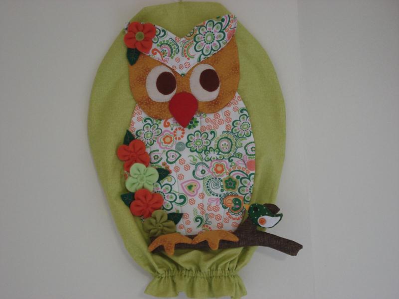 puxa saco de coruja verde