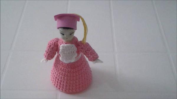 boneca de garrafa pet rosa