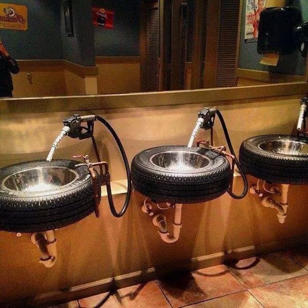 reciclagem com pneus pia