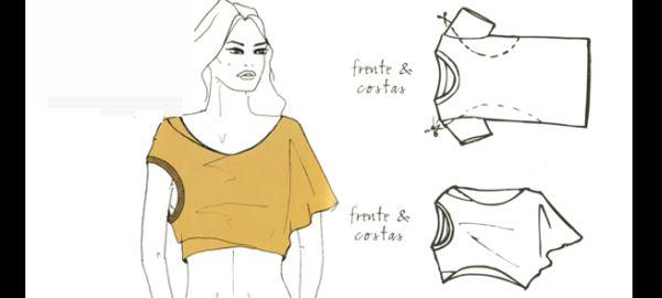 customização de camisetas virada