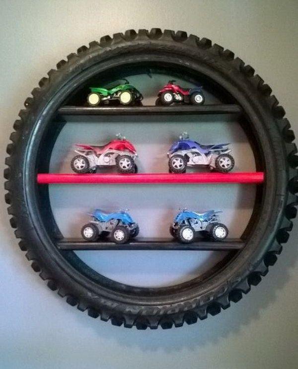 reciclagem com pneus miniestante