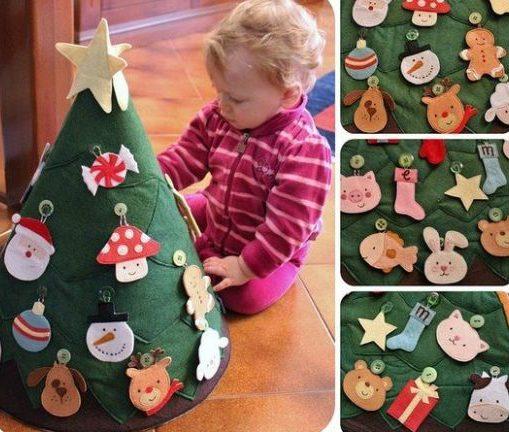 árvore natalina de feltro