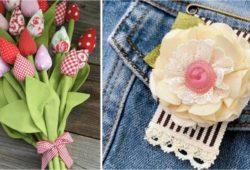 flor tecido criativa