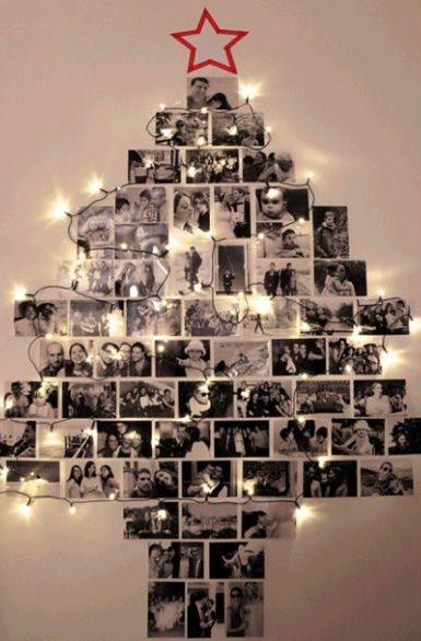 árvore natalina de fotos