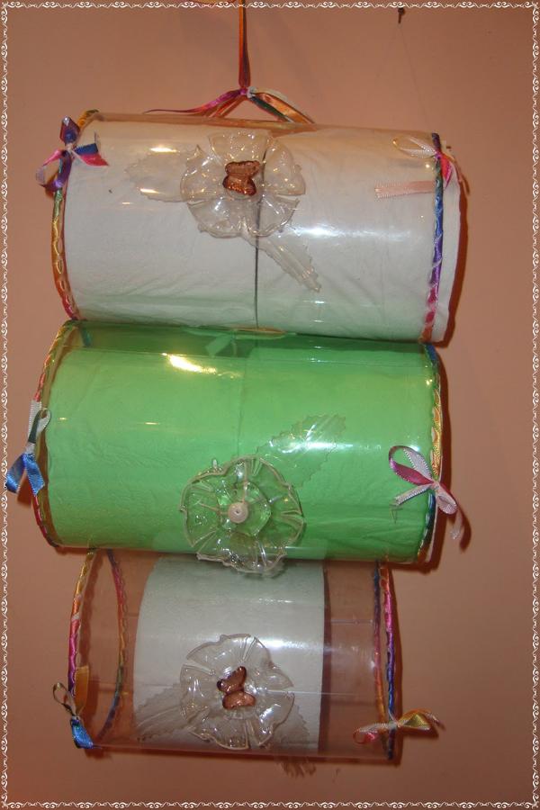 porta papel higiênico de garrafa pet sustentável