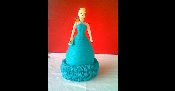 boneca de garrafa pet azul