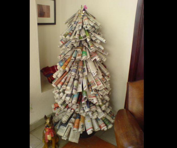 árvore natalina de papel