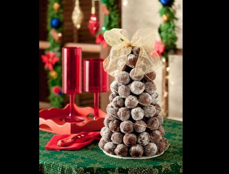 arvore natalina de bombom com laço