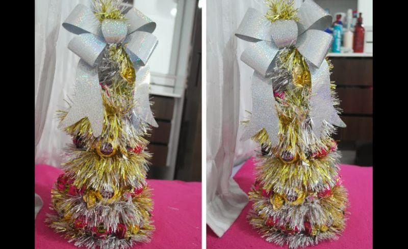 arvore natalina de bombom ouro branco