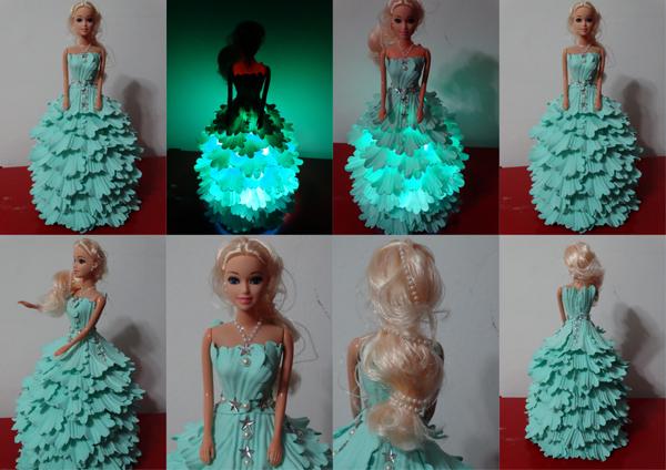 boneca de garrafa pet com luz