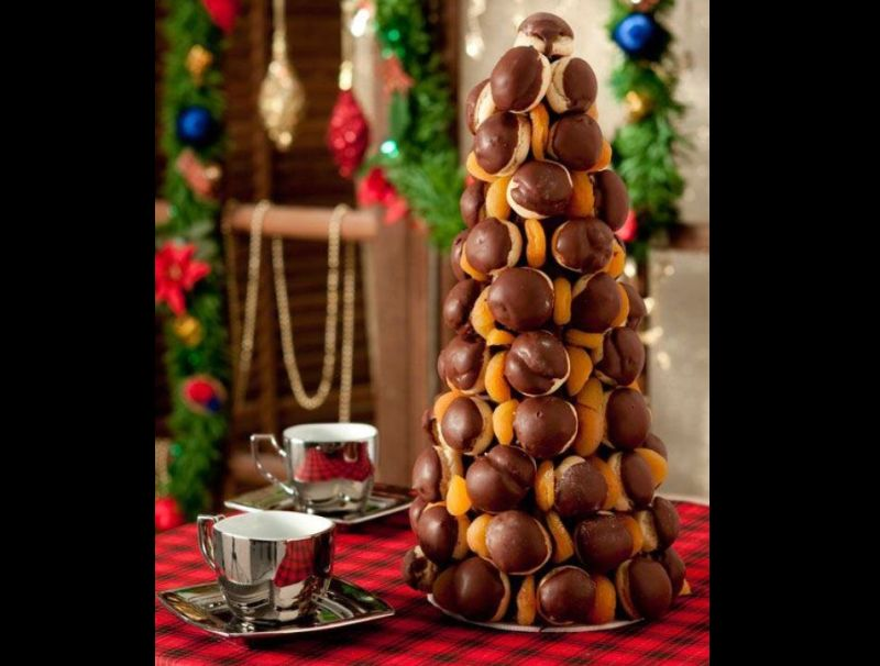 arvore natalina de bombom e doces