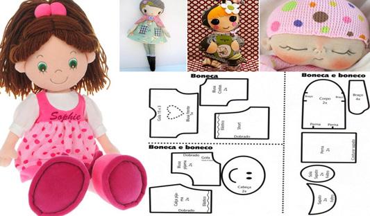 boneca de tecido diversas