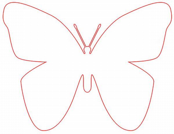 borboleta de papel vermelha