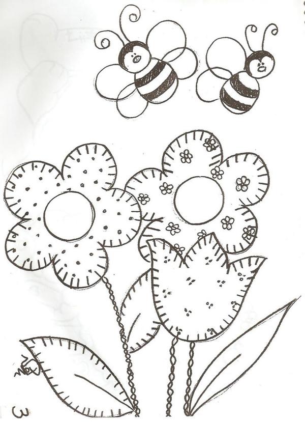 patchcolagem abelhas