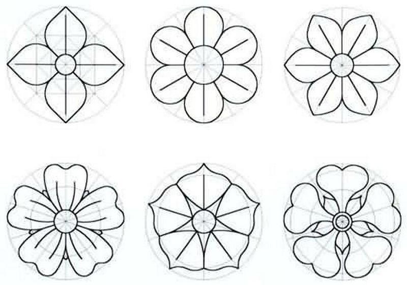 molde flor com tecido