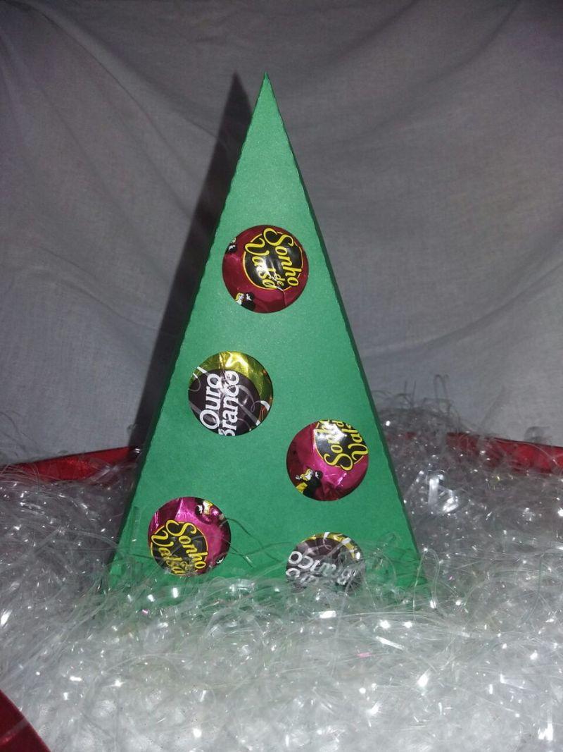 arvore natalina de bombom de papel