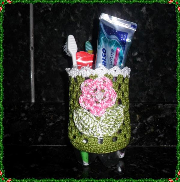 porta escova de dente como fazer