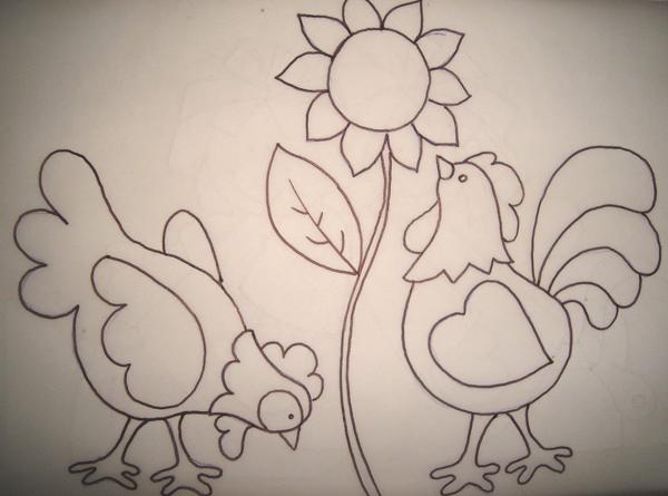 patchcolagem galinhas