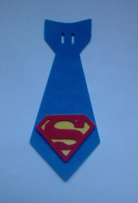 gravata em EVA super homem