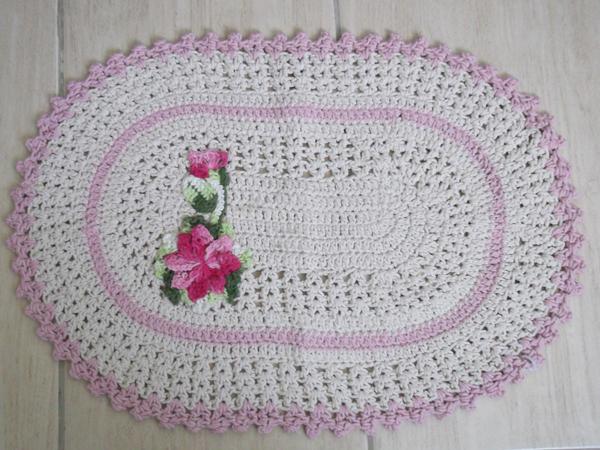 tapete de croche lilas