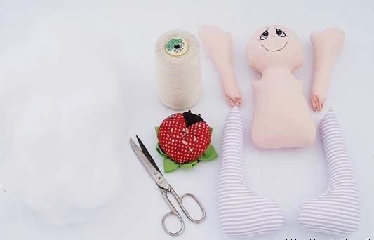 boneca de tecido grande