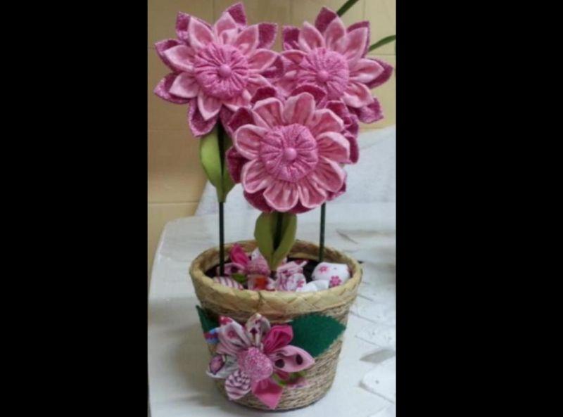 flor com tecido comum