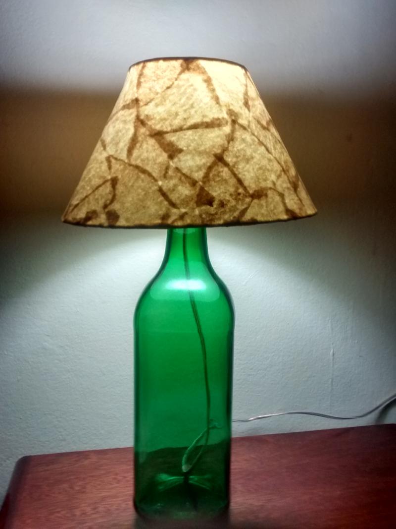 luminaria de garrafa de vidro como fazer