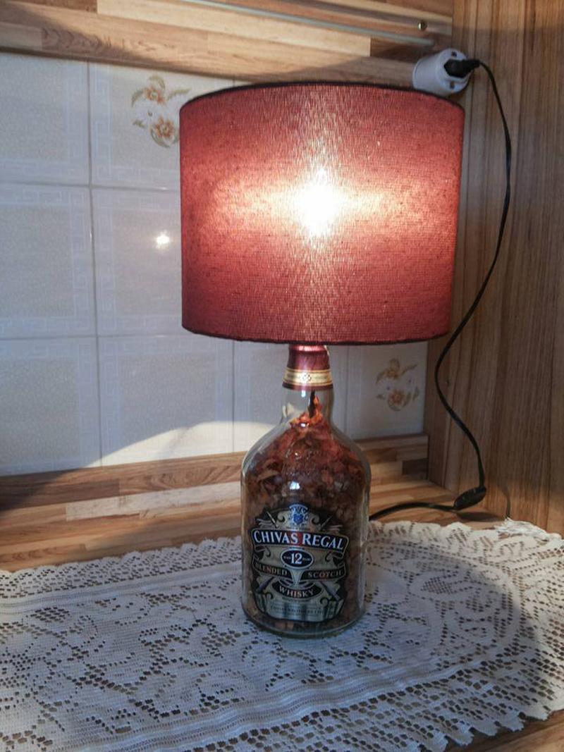 passo a passo luminaria de garrafa de vidro