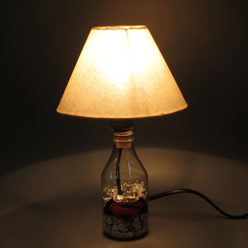 como fazer luminaria de garrafa de vidro