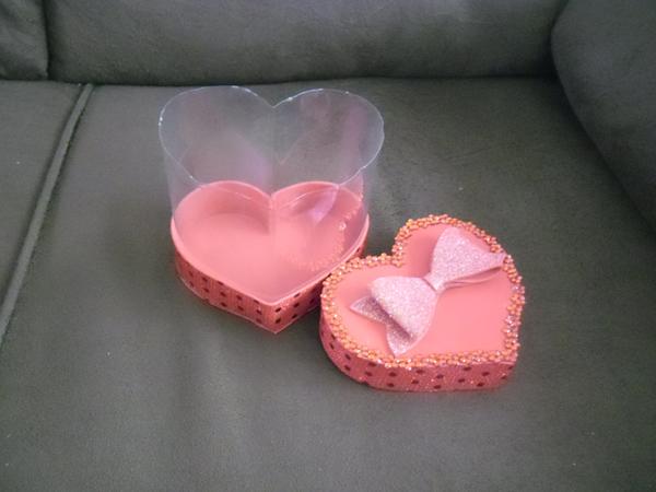 caixinha de coração pet