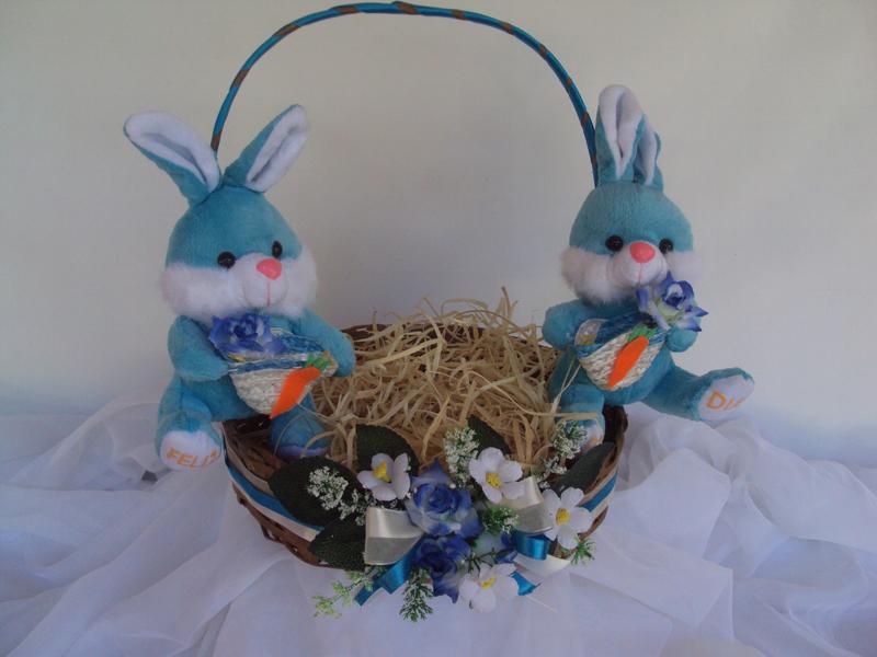 cesta decorada pascoa