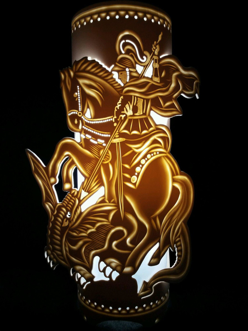 luminaria de pvc sao jorge