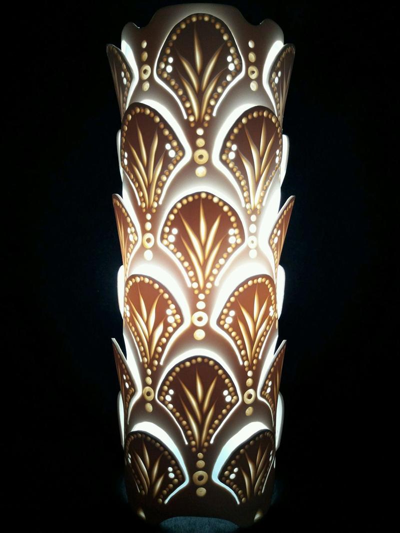 luminaria de pvc escamas