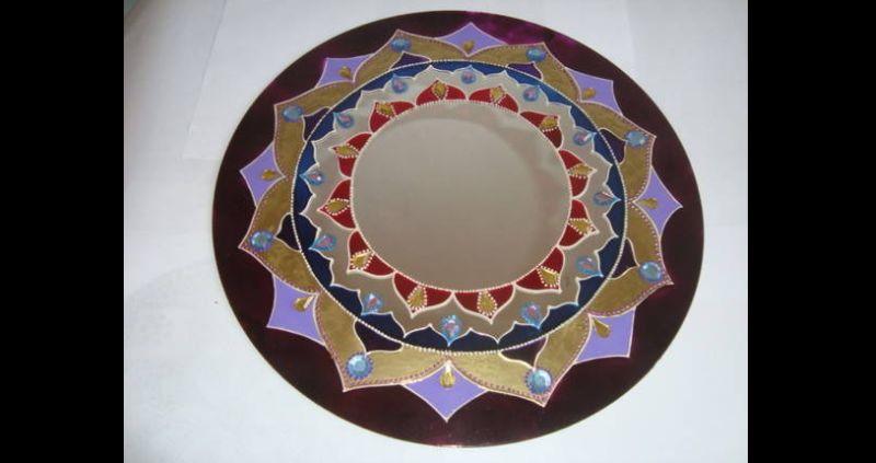 espelho decorado mandala