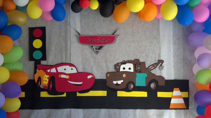 Painel de aniversário carros