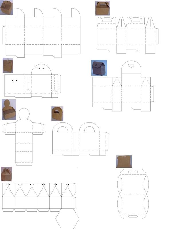 sacolinha de papel diversas